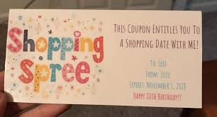 Shopping Spree Gift Certificate Template Shopping Spree Gift Certificate For Girls Birthday
