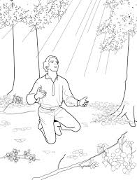 Small Picture Joseph Smith and the First Vision Primary Coloring Page