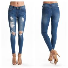 Distressed Skinny Jeans Boutique