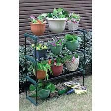 4 tier steel plant pot stand garden shelves greenhouse staging shelving rack new