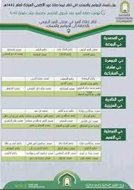 موعد صلاة عيد الاضحى في عرعر 2021 - الموقع المثالي