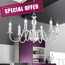 charming white antique chandelier 6 light flemish style rustic country