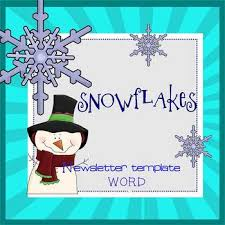 Snowflakes Newsletter Template Word