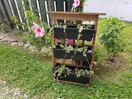 best choice s outdoor rustic wooden garden vertical wall mount 3 tier planter