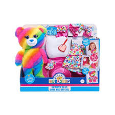 Amazon Com Build A Bear Friends Rainbow Bear Kit Make Your Own 10