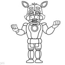 Enchanting Funtime Foxy Coloring Pages Fnaf Toy Page From Five