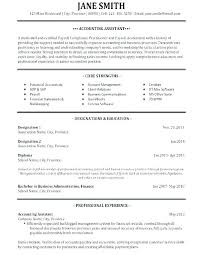 Example Of Accounting Resume Mesmerizing Accounting Resume Template Interesting Accounts Payable Clerk Resume