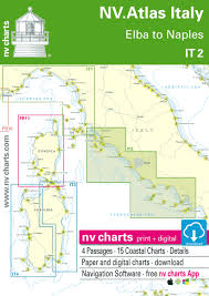 Free Sea Charts Download It 2 Nv Atlas Italy Elba To Naples