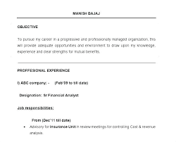 Resume Job Objective Examples Career Objective On Resume Wikirian Com