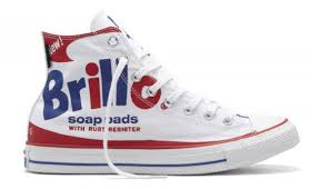 converse white high tops. converse chuck taylor all star hi top andy warhol brillo soap pads white /red/ high tops t