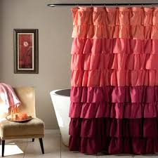 Ruffle PeachPlum Shower Curtain Walmartcom
