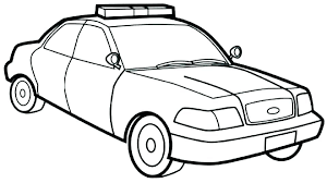 Cop Car Coloring Pages Police Colouring To Print Sheet Free