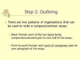 in class writing and writing for tests writing structure level  step 2 outlining there are two patterns of organizations that can be used to write