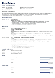 Internship Resume Government College Template For Students Download
