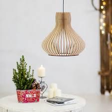 scandinavian wooden lampshade ceiling light