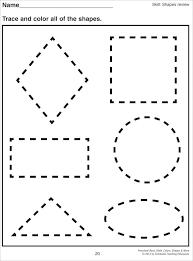 Shape Worksheets Medium To Large Size Of Math For Kindergarten ...