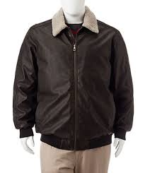 200 whispering smith big tall faux leather aviator jacket size lt new