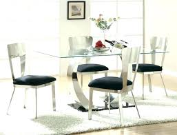 modern round glass top dining table room sets great set