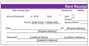 cash invoices 10 free rent receipt templates