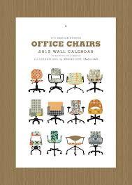 via office chairs. 2013 cbyc design studio office chair wall calendar 2500 via etsy chairs