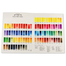 Winsor And Newton Professional Watercolour Colour Chart