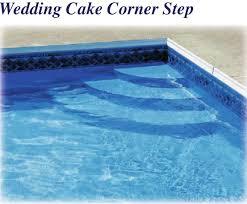 latham polymer corner wedding cake step 90 deg st9002 royal swimming pools steps for inground pool with liner s62