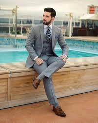 Light Grey Suit At Night