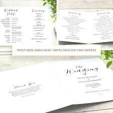 Wedding Booklet Template Image 0 Ceremony Booklet Template Catholic Wedding Program