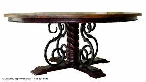 forged iron pedestal mia table base