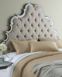 Neiman Marcus Bedroom Furniture Furniture King Size Upholstered Headboard And Bed Frame For White