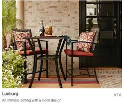 patio furniture for small spaces. lunburg an intimate setting with a sleek design patio furniture for small spaces