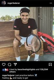 Roger is ready for DOHA 2021 : tennis