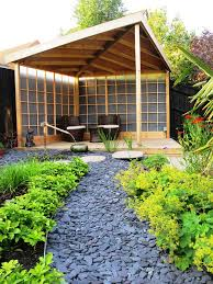 a minimalist pavilion would provide a sheltered spot where you can enjoy the garden being close
