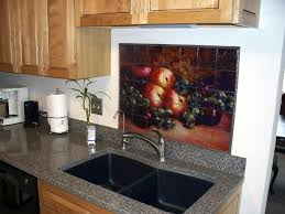 kitchen tiles with fruit design. tile murals with fruit can transform a kitchen remodelling project. lots of apples, grapes tiles design