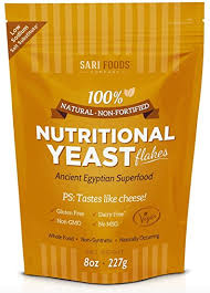 pure natural non fortified nutritional yeast flakes 8 oz whole food based