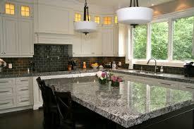 backsplash style kitchen backsplash ideas unfinished wooden cabinet island giallo ornamental granite countertop high end barstool