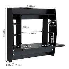homcom floating wall mounted desk table