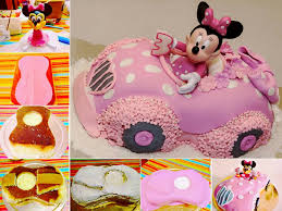 view in gallery minnie mouse car cake diy minnie car cake for magnificent birthday parties