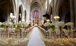 Contemporary Decoration Church Wedding Ceremony Decoration Ideas