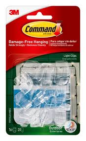 command 17017clr awes outdoor light clips with foam strips