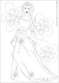 Barbie Doll Coloring Pages Princess On Book Print Porongurup