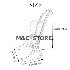 Motorcycle black passenger backrest sissy bar cushion pad for harley rh aliexpress stock harley grips
