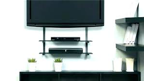 tv wall mount with shelf beautiful under corner cable box component for