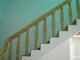 image of wood stair railing barade systems