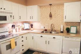 white kitchens with white appliances.  Kitchens AFTER Kitchen Transformation  White Cabinets U0026 Appliances  Check Blog For Details And Kitchens With