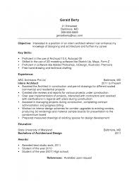 Architect Resume Objective architecture resume objective Savebtsaco 1