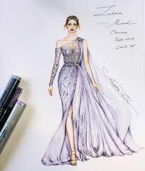 Luxury Designer Gowns Pin By Ayda Alp On A Fashion Illustration Dresses Dress