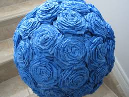 Crepe Paper Flower Balls Making A Crepe Paper Flower Ball On A Budget A Little