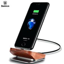 wood charging station wood charger dock station cell phone desktop docking station for 7 6 plus