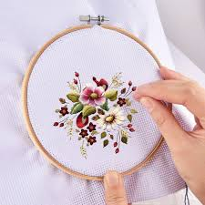wood hand embroidery hoop round cross sch frame needle crafts diy tool ring circle round loop